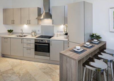 withe-grey kitchen designed by Pollard design
